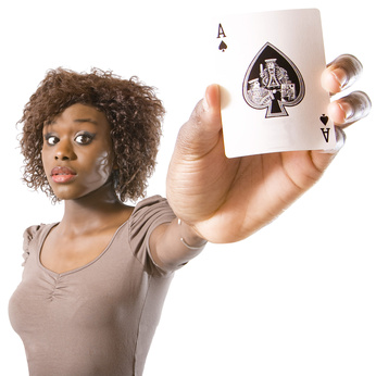 Geburtstagsspiel für Männer: Kartenpusten