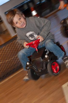 Kindergeburtstagsspiel: Autorennen